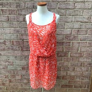 Collective Concepts Orange Racerback Brush Dress